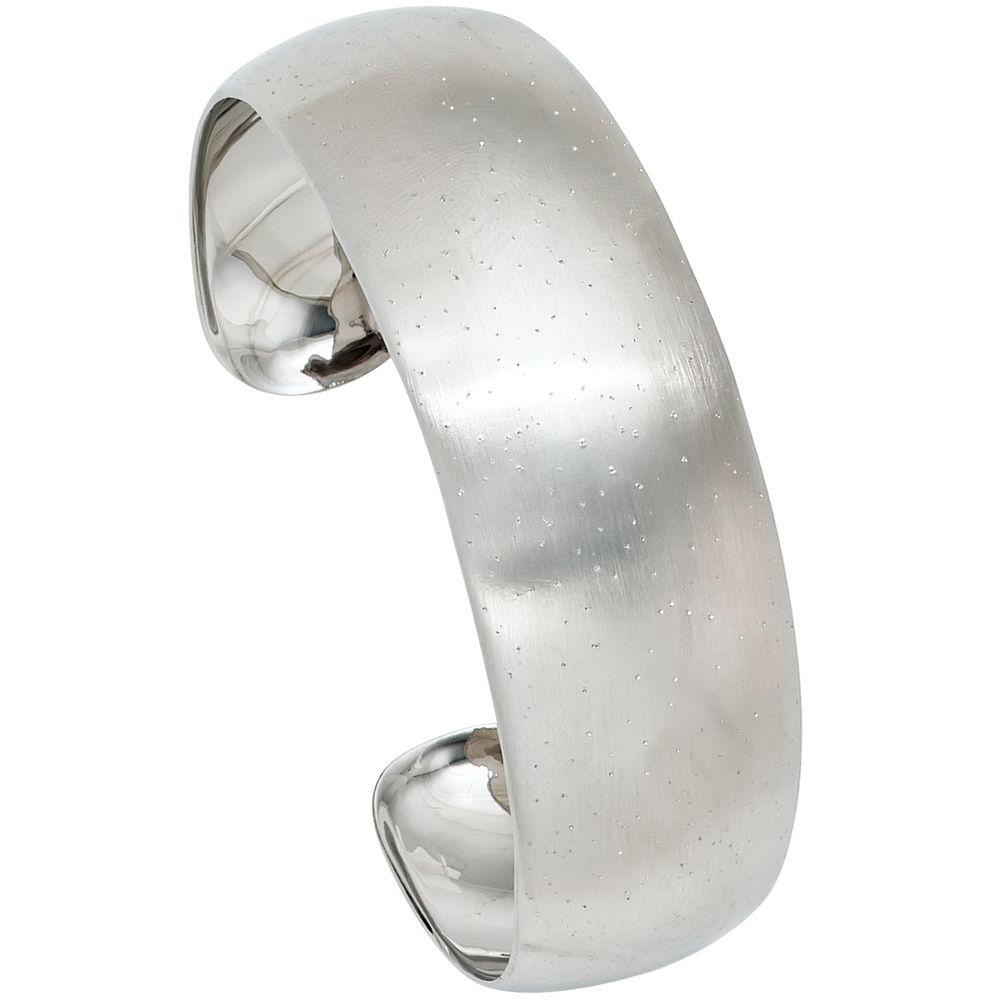 Armreif silber  Armreif 925 Silber mit Glitzereffekt - Marinas Schmuckwelt