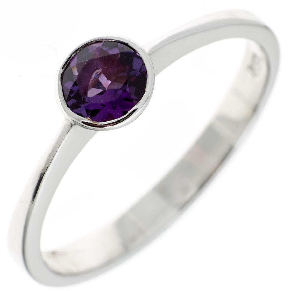 ring 925 silber mit amethyst dunkelviolett marinas schmuckwelt. Black Bedroom Furniture Sets. Home Design Ideas