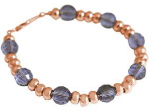 Armband 925 Silber/rosé vergoldet mit SWAROVSKI ELEMENTS violett