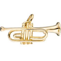 "Anhänger ""Trompete"" 925 Silber/vergoldet"