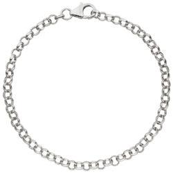 Erbsarmband 925 Silber ca. 19 cm ca. 3,5 mm