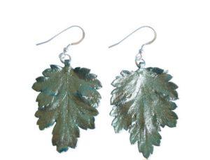 "Ohrhaken ""Chrysanthem-Blatt"" 925 Silber"