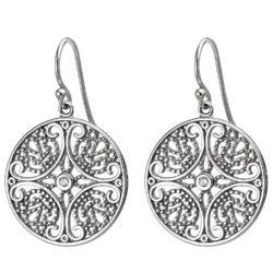 Ohrhaken 925 Silber mit Zirkonia weiß Retro-Design