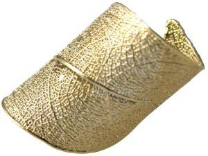 """Ring """"Rosenblatt"""" vergoldet"""