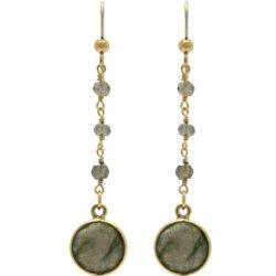Ohrhaken 925 Silber/vergoldet mit Labradoriten
