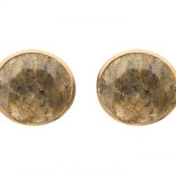 Ohrstecker 925 Silber/vergoldet mit Labradorit