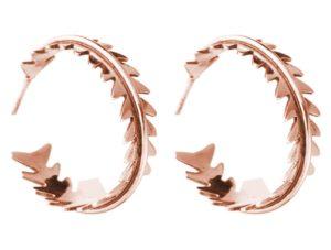 """Creolen """"Farn"""" 925 Silber/rosé vergoldet"""