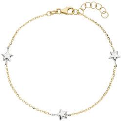 """Armband """"Sterne"""" 375 Gelb-/Weißgold"""