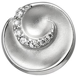 """Anhänger """"Curl"""" 925 Silber mit 7 Zirkonia weiß"""