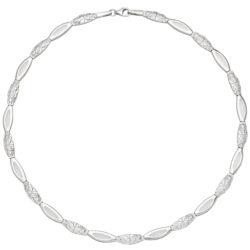 Collier NAVETTE 925 Silber/teilgehämmert