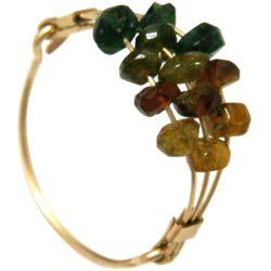 Ring vergoldet mit Turmalinen multicolor
