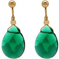 Ohrclips 925 Silber/vergoldet mit Turmalinen grün