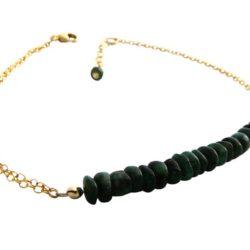 Armband vergoldet mit Smaragd-Rondellen