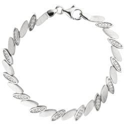 """Armband """"Marquise-Design"""" 925 Silber mit 52 Zirkonia weiß"""