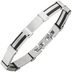 Armband Edelstahl/PVD schwarz teilbeschichtet